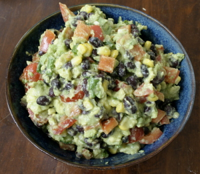 Avocado, Black Bean and Vegetable Dip