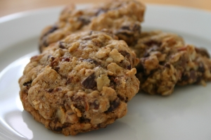 Cherry Chocolate Chip Oatmeal Cookie