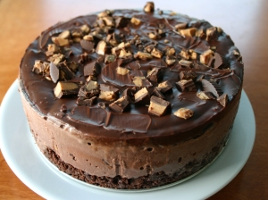 Chocolate Peanut Butter Cup Ice Cream Cake