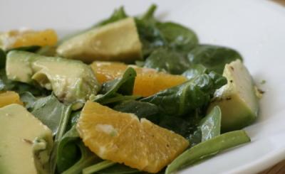 Spinach, Avocado and Orange Salad