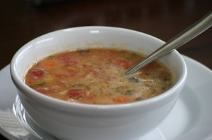 White Bean Soup with Tomatoes, Herbs & Balsamic Vinegar