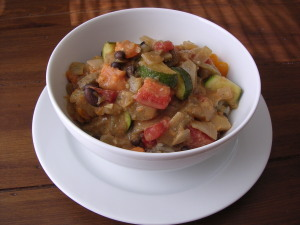 Autumn Sweet Potato, Black Bean and Peanut Stew