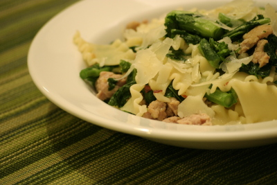 Pasta with Rapini and Sausage