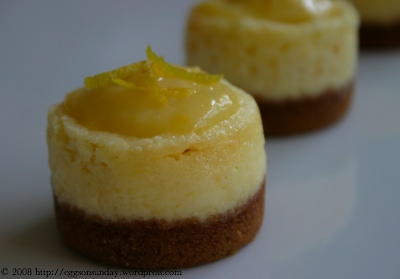 Little Lemony Ricotta Cheesecakes | eggs on sunday