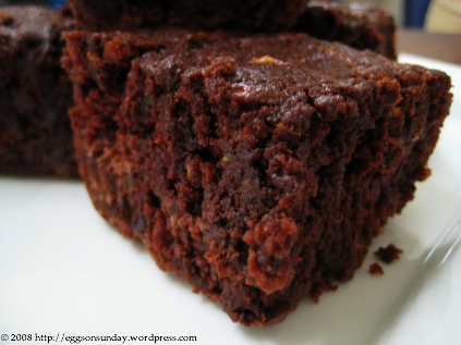 Eggsonsunday Chocolate Zucchini Cake