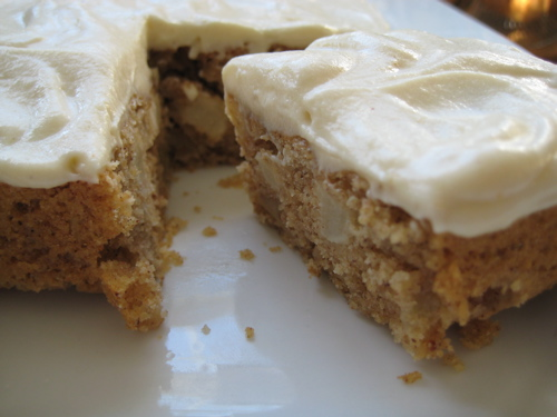 Apple Spice Cake with Maple Cream Cheese Frosting | eggs on sunday