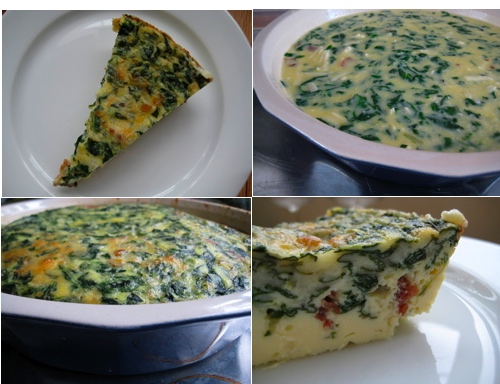 Swiss Chard, Bacon and Cheddar Crustless Quiche. Mmm....