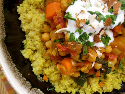 ... Vegetable Chronicles: Quinoa with Moroccan Carrot & Winter Squash Stew