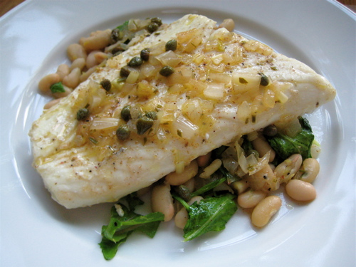 fish_halibutwhitebeansarugula