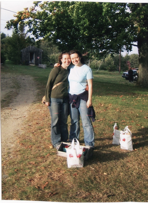Me and Betsy, post-apple-picking