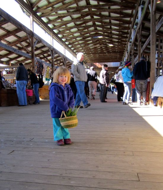 she also loves shopping at the farmer's market with me!